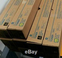 10 x TN324 Genuine Konica Minolta toner 2 SETS + 2 XTRA BK Bizhub C258 C308 C368