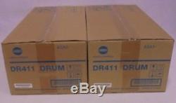 2x Konica Minolta DR411 A2A103D Drum Unit Trommel Bizhub 223 283 36 363 42 423