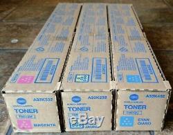 3 pk NEW Konica Genuine TN512 CMY Toner TN512C TN512M TN512 Bizhub C454 C554
