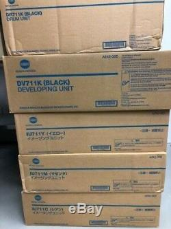 3x Konica Minolta Imaging Unit IU711 CMY +DV711K+DR711K bizhub C654/754 komplett