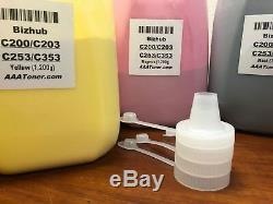 (4,800g) BULK Toner Refill for Konica Minolta Bizhub C200 C203 C253 C353 4.8kg
