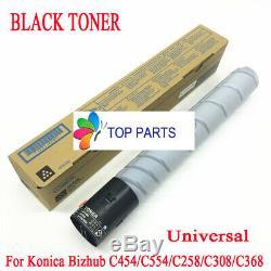 4 Black toner for Konica Minolta bizhub C454E/C554E/C258/C308/C368 TN512 TN324