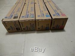4 Genuine Konica Minolta bizhub C454E C554E TonerSET TN512K TN512C TN512Y TN512M