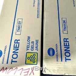 4 Konica Minolta Toner Cartridges Bizhub C452, 2 TN613M, TN413K, TN613Y
