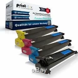 4x Laser Tonerkartuschen für Konica Minolta Bizhub-C-250-P Quantum Print Serie