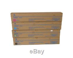 4x NEW Toner Cartridges for Konica Minolta Bizhub C368 C308 C258 TN324K/M/Y/C