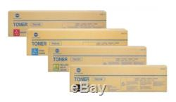4x Original Toner Konica Bizhub C220 C280/TN-216K TN-216C 216M 216Y Cartridges