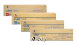 4x Original Toner Konica Bizhub C220 C280 / TN-216K TN-216C 216M 216Y Cartridges