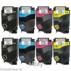 8 Pack Toner Cartridge Set for Konica Minolta BizHub C350 C351 C450 C450P KCYM
