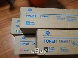 Genuine Konica Minolta BIZHUB PRESS C8000 Toner SET, TN615 CMYK 1 each