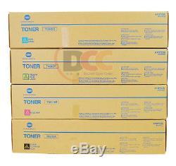Genuine Konica Minolta Bizhub Press C8000 Tn615 Toner Set Of 4 Tn-615 Cymk