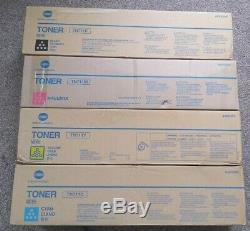 Genuine Konica Minolta TN711 Toner Cartridges Bizhub C654/C754 C, Y, K M