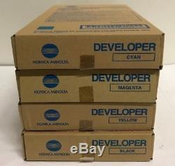 Genuine new Konica Minolta DV610 developer set C, M, Y, K for bizhub C6000, C7000