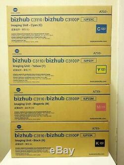 IUP23 CMYK Genuine Imaging Units Sealed SET Konica Minolta Bizhub C3110 C3100P