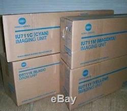 IU 711 CYM + DR711K GENUINE Konica Minolta Imaging Unit Set for Bizhub C654 C754