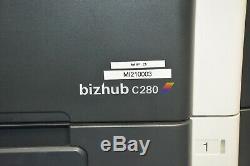 KONICA MINOLTA BIZHUB C280 ALL-IN-ONE PRINTER + 5 New Toner Cartridges