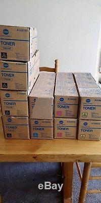 KONICA MINOLTA TN616 850g CYAN YELLOW MAGENTA BLACK TONER BIZHUB PRO C6000 X10