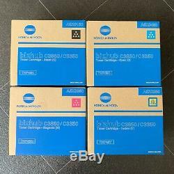 KONICA Minolta Bizhub C3850 C3350 Toner Black Cyan Magenta Yellow FULL SET