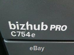 Konica Bizhub Pro C754e Colour Photocopier/Copier, Fiery & Staple Finisher