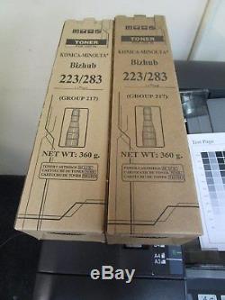 Konica Minolta Bizhub 223 Black & White Copier & 2 Extra Toners