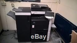 Konica Minolta Bizhub C451 Copier Printer Scanner + Finisher 62k COLOR PRINTS