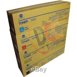 Konica Minolta Bizhub C452 Toner Set Cyan Yellow Magenta Black Genuine