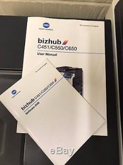 Konica Minolta Bizhub C550 with FS-517 Finishing Unit Brand New Imaging Units