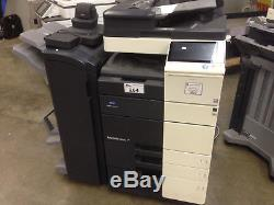 Konica Minolta Bizhub C554e with booklet finisher (developers and drums 100%)