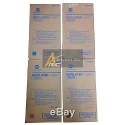 Konica Minolta Bizhub C8000 Developer Set CMYK DV613K DV613C DV613M DV613Y