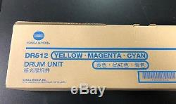 Konica Minolta Bizhub OEM DR512 Color Drum Unit DR512C C554 C224 C284 A2XN0TD +