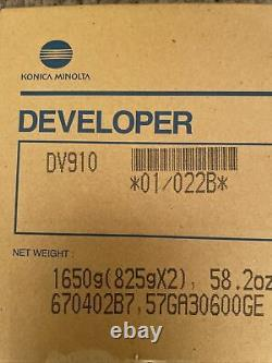 Konica Minolta DV-910 022B Black Developer Box of 2 / 825g Bags bizhub Pro 920
