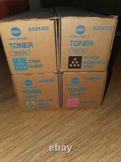 Konica Minolta SET CMYK Toner TN512 / A33K152 252 352 452 Bizhub C 454 554