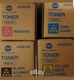 Konica Minolta TN321 Toner Set, A33K150 A33K250 A33K350 A33K450- Bizhub C224e