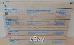 Konica Minolta Toner CMYK TN221K TN221C TN221M TN221Y f. Bizhub C227 C287 NEU