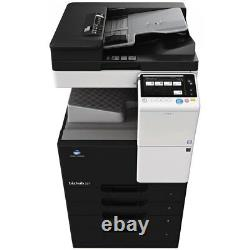 Konica Minolta bizhub 227 B&W 22ppm Printer, Copier, Color Scan, Network 65K