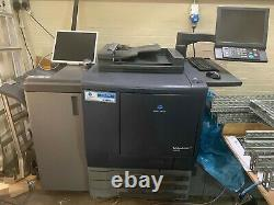 Konica minolta c6000 Digital Press with High capacity feeder and staple finisher