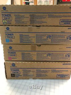 NEW OEM Konica Minolta Bizhub Pro Color Toner TN612C, TN612M, TN612Y, TN612K