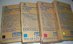 New! 4PK Konica Minolta Bizhub Pro C500 Developer DV510K DV510C DV510M DV510Y