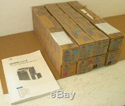 New Konica Minolta Biz Hub C550 Toner Lot of 8 Black Cyan Magenta Yellow