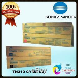 New Konica Minolta TN210K TN210C TN210M TN210Y Full Toner Set CMYK Bizhub C250