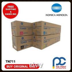 New & Original Konica Minolta TN711 CMYK Set for Bizhub C754 C654 A3VU