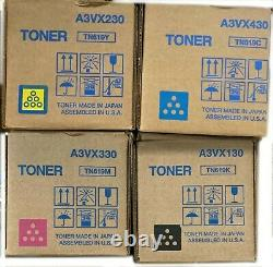 OEM Konica Minolta TN-619 CMYK Toner Cartridge Set for BizHub Brand New