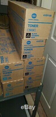 OEM TN615 CMYK, Lot of 16 Genuine Konica Minolta BIZHUB PRESS C8000/1100 Toner