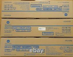 Sealed Konica Bizhub C258 C308 C368 C458 C558 C658 Cmy Drum X3 Dr313 A7u4-0td