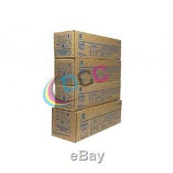 Set Of 4 Konica Minolta Tn612 Cymk Toner Bizhub Pro C6501 C5501