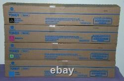 Set of 4 OEM Konica Minolta TN514 (YMCK) Toner Cartridges for bizhub C658 - New