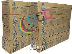 TN610 Lot OF 8 Toner Set Bizhub Pro C6500/C5500/C6500P Toner High Yield