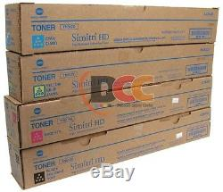 Tn512 Konica Minolta Cymk Toner Cartridge Set For Bizhub C454 C554 A33k-tn512