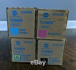 Toner Set CMYK TN321 Konica Minolta BizHub C224 C284 C364 C224e C284e C364e