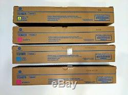 Toner lot of 4 Konica Minolta BizHub TN324Y TN324C TN324M Magenta Yellow Cyan
